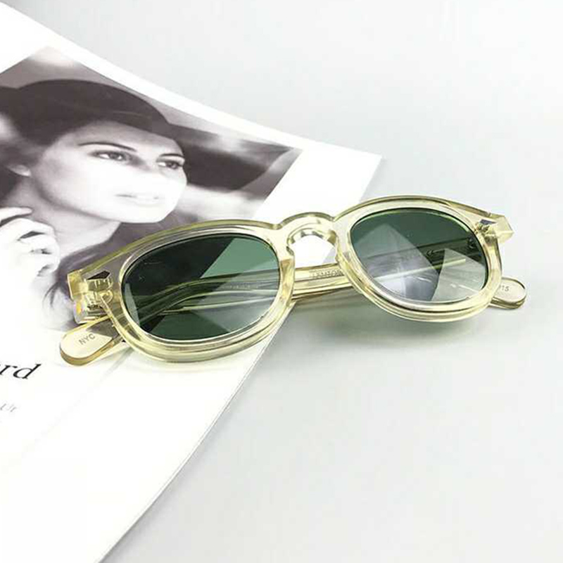 New ZOLMAN Johnny Depp Polarized Sunglasses Green Lens Man Woman Fashion Band High Quality Vintage Acetate Frame 013-1