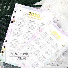 1 Pcs 2020 Year Calendar Divider Home Page Watercolor Refill for Spiral Planner A5A6 Diary Accessories School Stationery кружка 0 3 л waechtersbacher page 1 page href