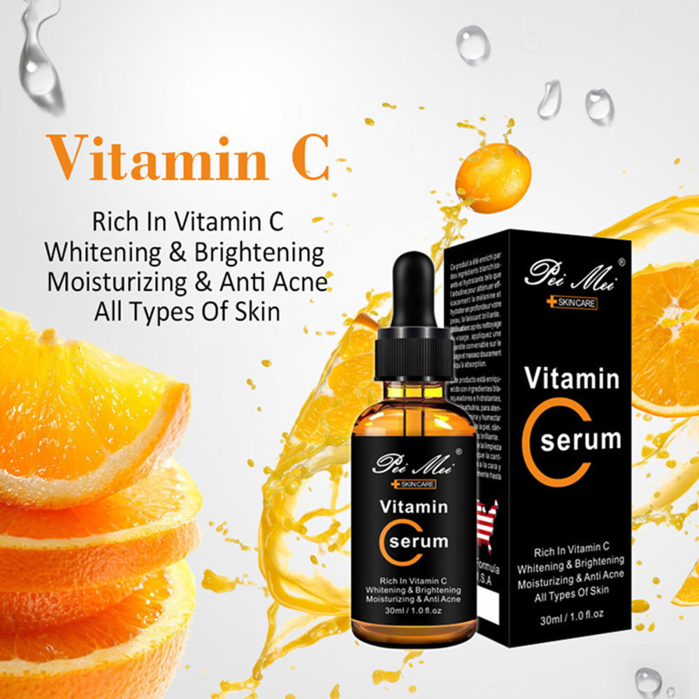 Vitamin C Facial Serum Firming Anti-Wrinkle Anti-Aging Acne Spot Remover Serum Skin Repair Skin Care Face Essence