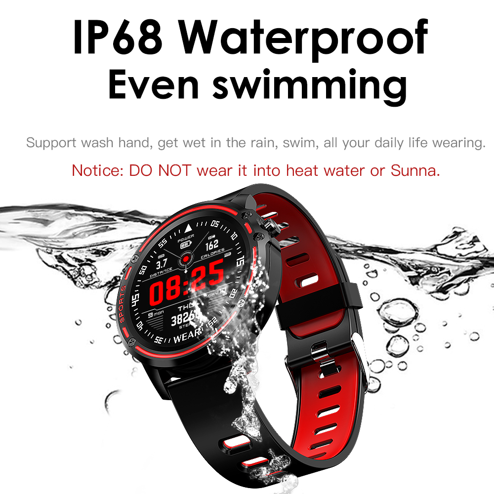 H6933f2f758b04e23808ec60daf44ca79o L8 Smart Watch Men Fitness Tracker Heart Rate Blood Pressure Monitoring Smart Bracelet Ip68 Waterproof Sports Smartwatch
