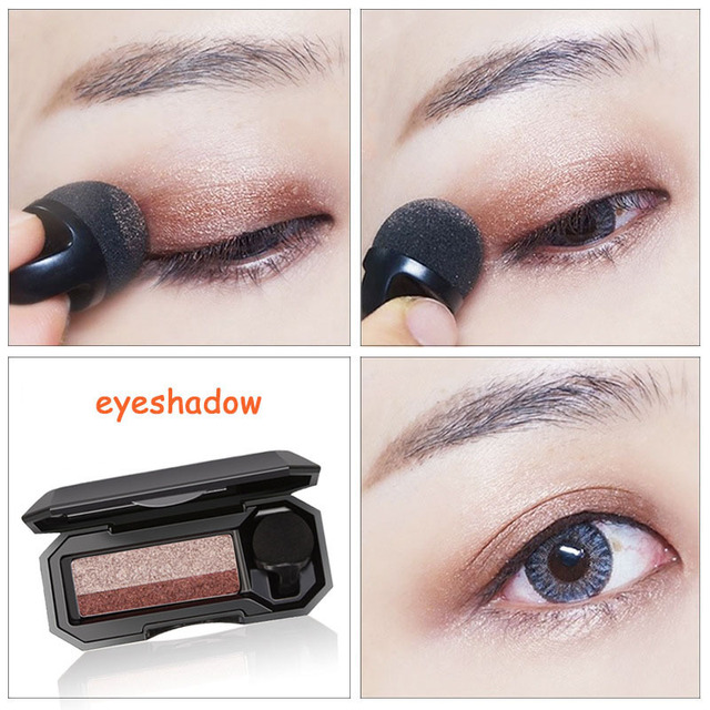 Double Color Lazy Eye Shadow Makeup Palette Glitter Palette Eyeshadow Pallete Waterproof Glitter Eyeshadow Shimmer Cosmetics 3