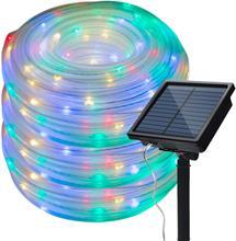 8 מצבי שמש חבל אורות חיצוני מחרוזת אורות 10M 20M עמיד למים עבור מקורה חיצוני מסיבת גן פטיו דשא תפאורה חג המולד