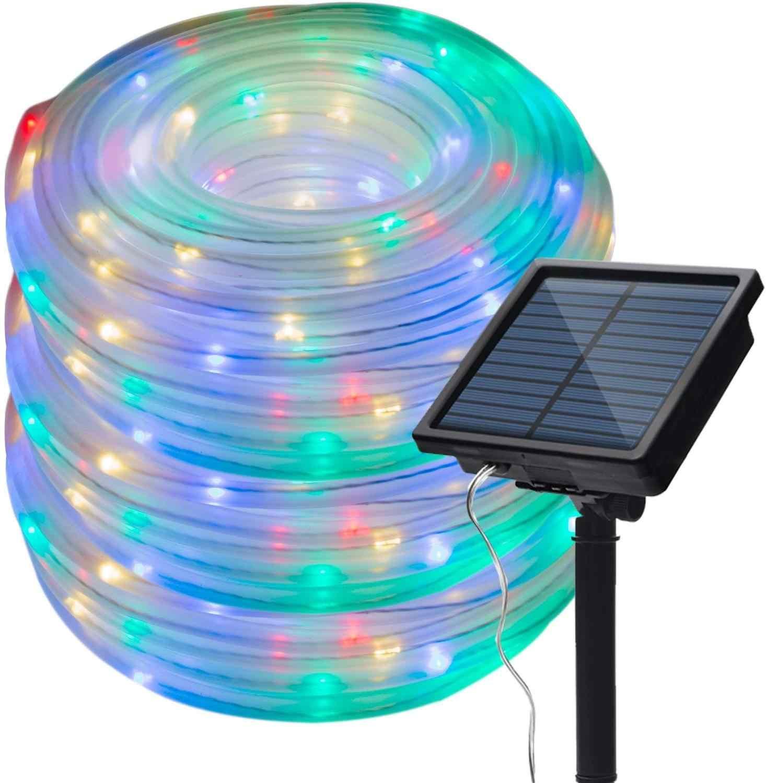 8 modos de luces solares de cuerda guirnaldas de luces para exterior 10M 20M impermeable para interiores exteriores Jardín fiesta Patio decoración de césped Navidad