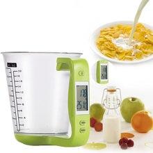 Duża pojemność pomiar elektroniczny kubek waga kuchenna cyfrowa zlewka waga Libra z wyświetlaczem LCD pomiar temperatury kubki