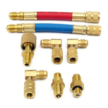 8 Pcs Car A/C Air Conditioner Refrigeration R134A R12 Converting Adapter Hose Set недорого