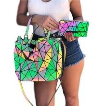 Purse Luxury Wallets Shoulder-Bags Designer-Sets Geometric Top-Handle Hologram Female