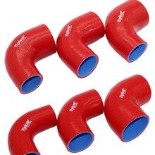 EPLUS универсальный силиконовый шланг разъем турбо впуска трубопроводная муфта шланг 90 градусов, разные размеры, красный
