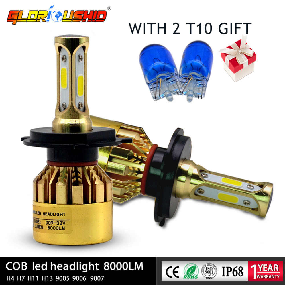 2Pcs H4 LED H1 H7 H3 H11 H8 HB3 9005 HB4 9006 Led Car Headlight Bulbs 72W 8000LM Auto Lamp 3000k 4300k 6500k H11 Fog Lights
