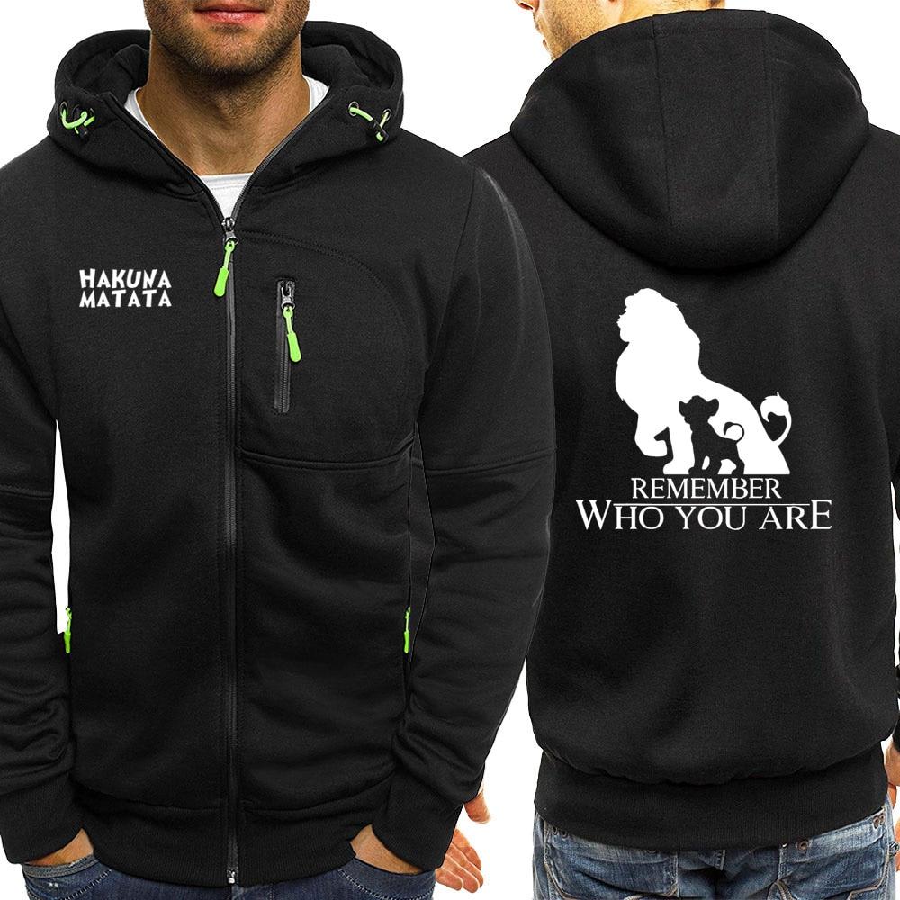 Men Hoodies Simba Streetwear Jackets Zipper 2019 Autumn Hot Sale The Lion King Casual Coat Sportswear Long Sleeve Hooded