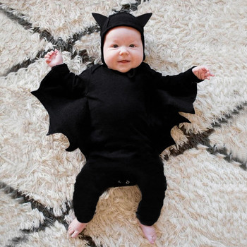 Baby Halloween Clothes For Baby Romper Autumn Winter Baby Boy Girl Clothes Bat Long Sleeve Kids Newborn Jumpsuit Infant Costume christmas reindeer knitted newborn baby boys girls romper jumpsuit winter kids costume long sleeve pajamas overalls for children