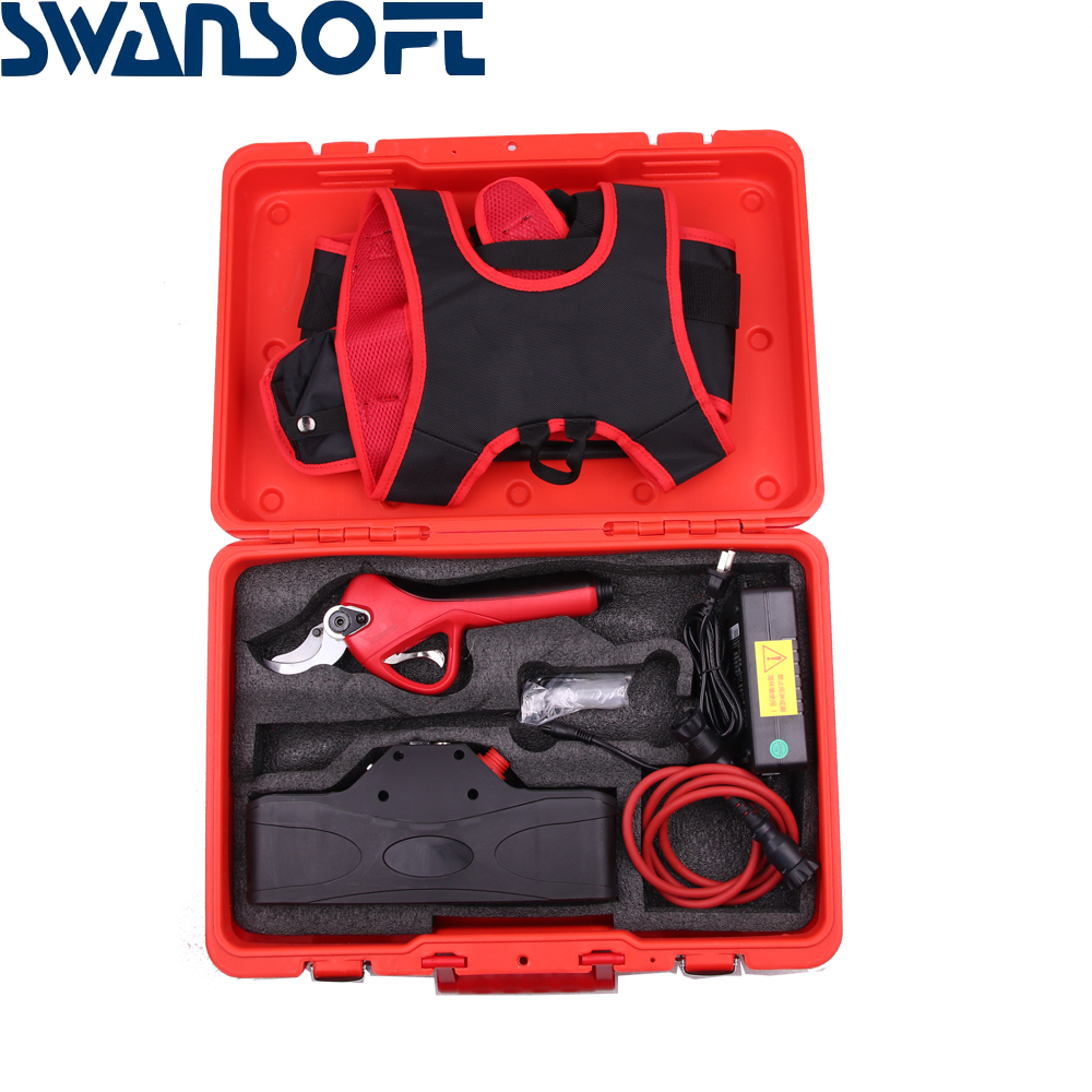 Efficient Landscaping Cordless Fruit Ion SWANSOFT Tree Electric Pruning Bonsai Shear Pruner Lithium Cutter Branches Pruning Tree