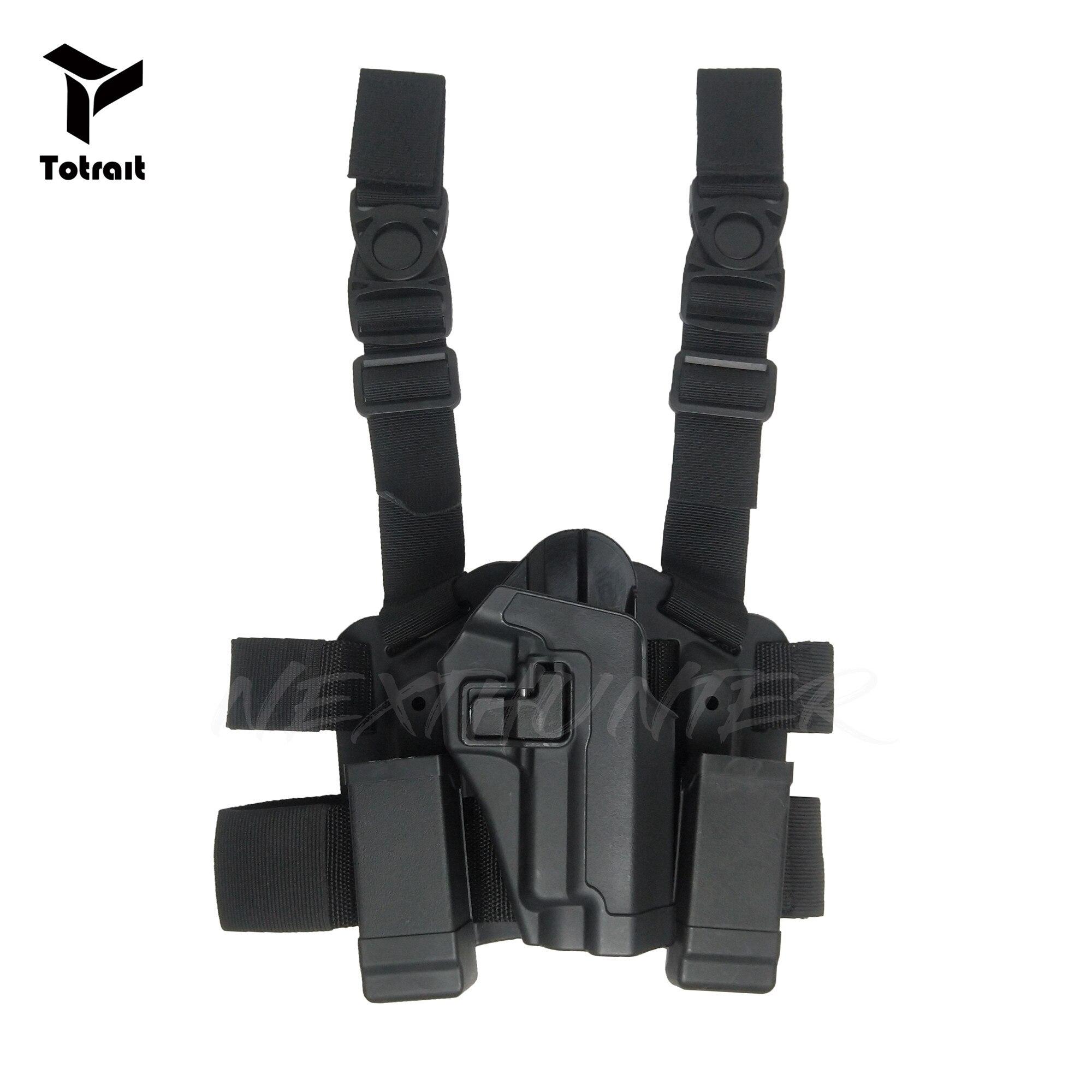 BlackHawk CQC SIG P226 P220 Tactical Leg Holster RH Drop Leg Pouch Hunting Airsoft Accessories