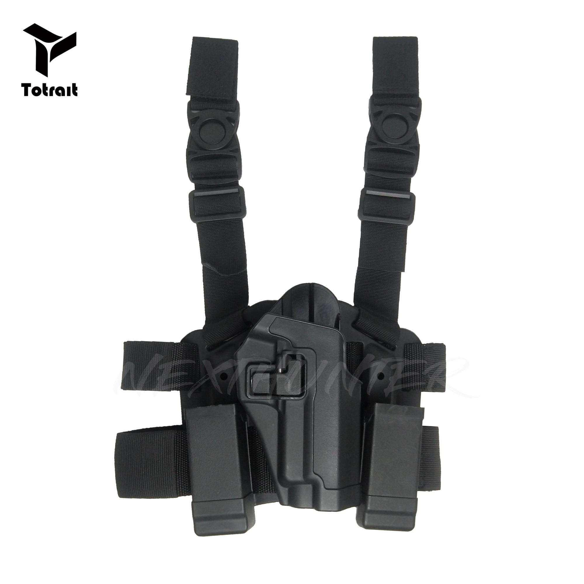 BlackHawk CQC SIG P226 P220 Tactical Leg Holster RH del Piedino di Goccia Del Sacchetto di Caccia di Airsoft Accessori