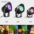 Водонепроницаемый 10 Вт/20 Вт/30 Вт высокомощный COB прожекторы ультра-яркий наружный настенный светильник регулируемый угол прожектор с AC100 240V ...