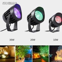 Waterproof 10W/20W/30W High-power COB Spotlights Ultra-bright Outdoor Wall Lamp Adjustable Angle Flood Light with AC100 240V 12V цена 2017