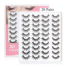 3D Mink Lashes Pack 5/20 Pairs Messy Fluffy Long Faux Cils,Mix Dramatic Natrual Mink Eyelashes Packaging wholesale in bulk
