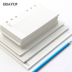A5 A6 Loose Leaf Notebook Refill Spiral Binder Inner Page Diary Weekly Monthly Planner To Do List Line Dot Grid Inside Paper(China)