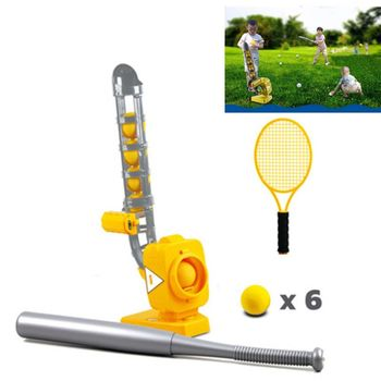 Tennis Baseball Automatic Ball Machine for Children Training Outdoor Sport Toy