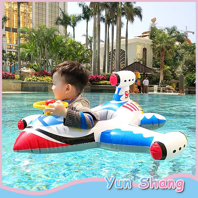 Baby Infant Swimming Ring Baby Pool Floating Board Ring For Summer Rocket Style Swim Ring Car Inflatable Infants Float Seat Boat