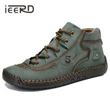 Grande taille en cuir hommes chaussures décontracté en cuir fendu chaussures hommes mocassins Super confort chaussures de neige chaussures plates pour homme Offre Spéciale mocassins chaussures