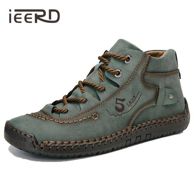Zapatos informales de cuero dividido para hombre, mocasines de talla grande, Super comodidad nieve, gran oferta