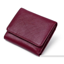 Luxurious 100% Genuine Leather Three-fold Style Women Purse New Arrivals Women Leather Wall