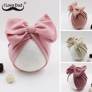 Cute Bows Baby Hat Knot Intant Baby Girl Boy Bonnet Newborn Turban Soft Children Kids Toddler Beanie Cap Photography Props