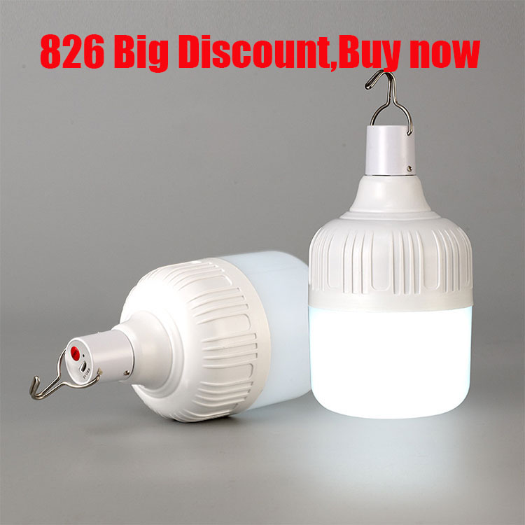 Portable Lantern Tent Light LED Bulb Emergency Lamp Rechargeable Dimmable Lights Outdoor Camping Hanging LED Christmas Light #
