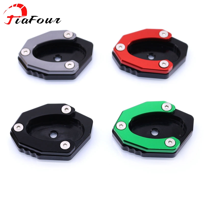 Fit For <font><b>KAWASAKI</b></font> Z650 Z900 <font><b>Z900RS</b></font> <font><b>Z900RS</b></font> CAFE Z1000SX Ninja 1000 2017-2019 kickstand sidestand stand extension enlarger pad image