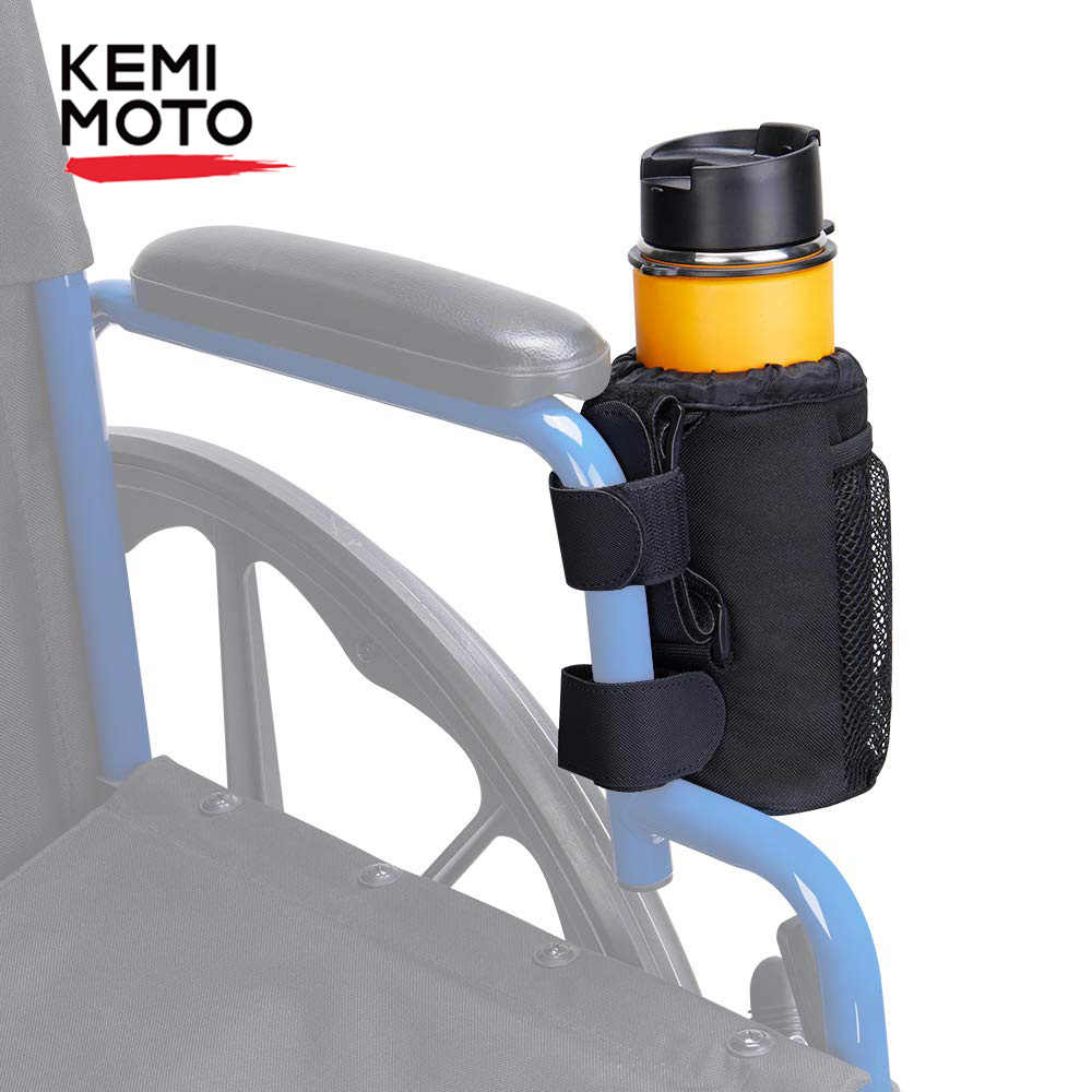 KEMIMOTO Cup Holder 600D Oxford Fabric ,Blue Adjustable Drink Cup Can Holder with Drain and Alligator Clip Universal for Boat Stroller Wheelchair Walker Bike Motorcycle ATV Marine Scooter Camper Chair