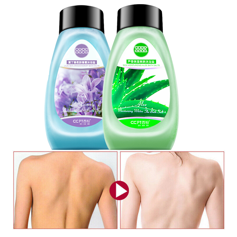 CCPT Nature Aloe Bath Salt Exfoliating Whitening And Repairing Remove Acne Treatment Body Care 400g