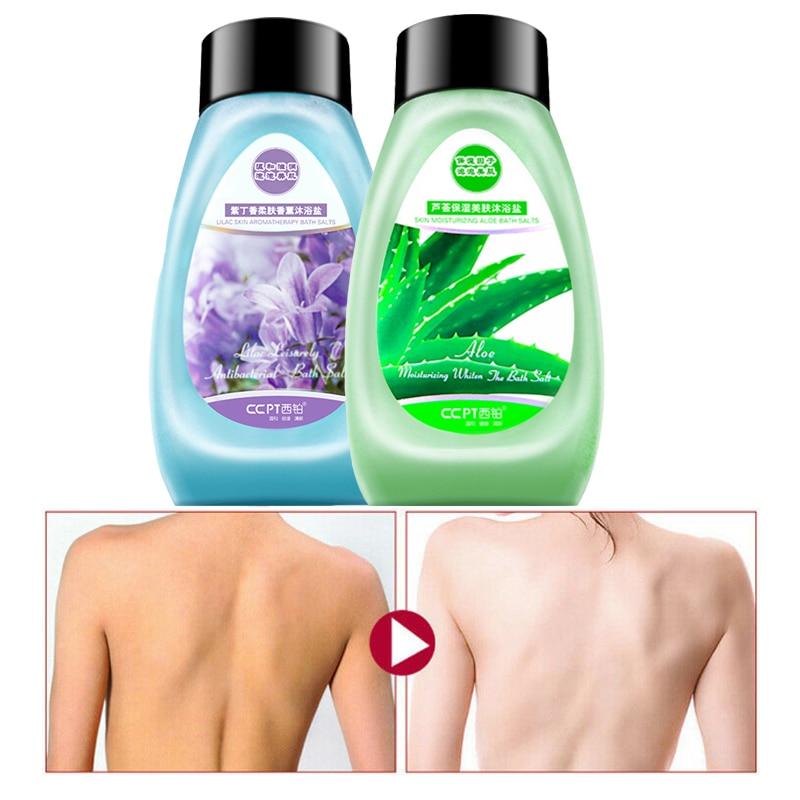 CCPT Nature Aloe Bath Salt Exfoliating Whitening And Repairing Remove Acne Treatment Body Care 400g