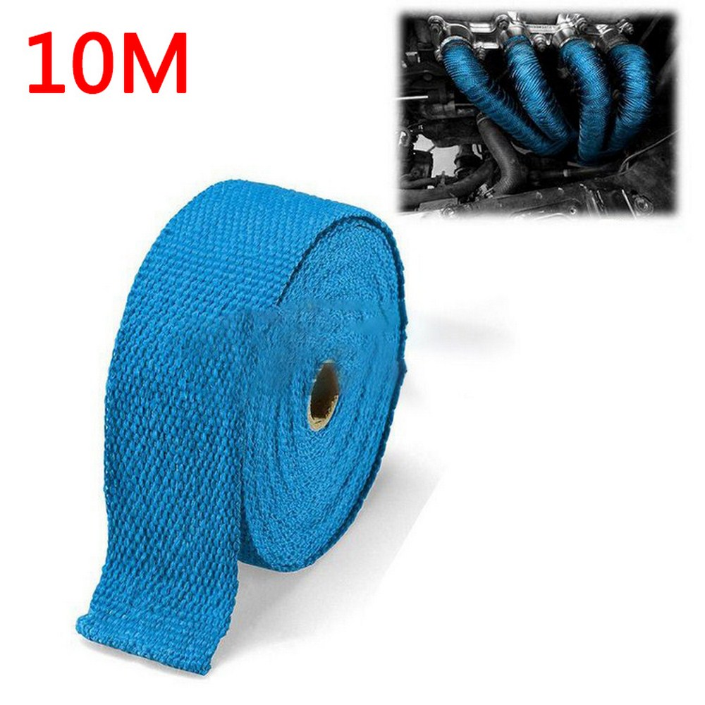 10m*5cm*1.5m Glass Fiber Tape Auto Exhaust Pipe Wrap Insulation 900-1200 Degrees Temperature Cotton Insulation Heat Wrapped Tape