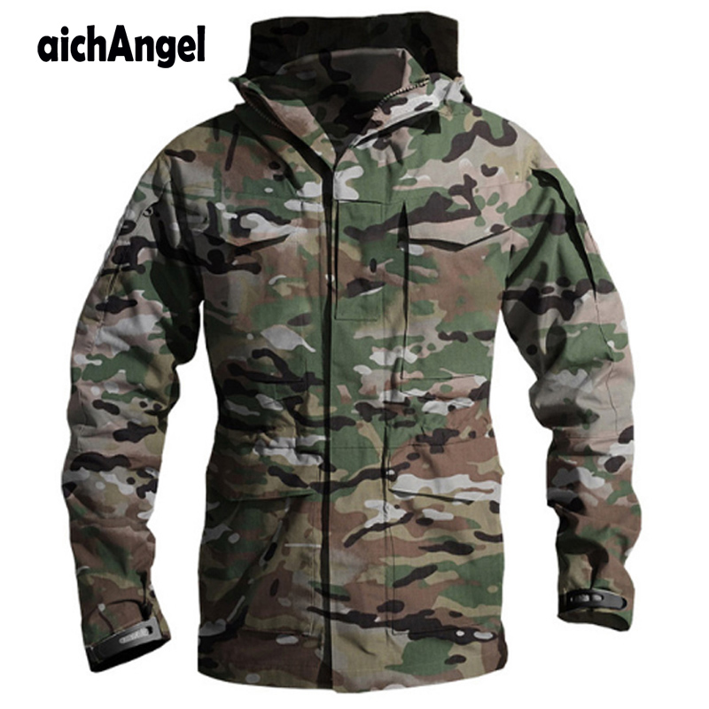 Tactical M65 US Army Clothes Windbreaker Men Winter Autumn Waterproof Flight Pilot Coat Hoodie Military Field Jacket Army Coat