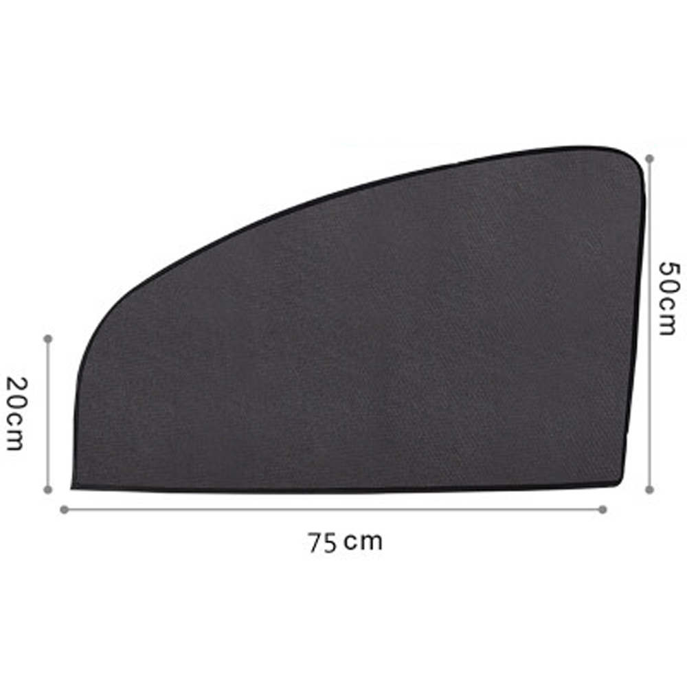 75x50cm Front Magnetic Car Side Window Passenger Sun Shade Visor Anti-UV Cover Sunshade