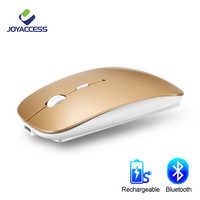 Ratón inalámbrico Bluetooth ratón de ordenador silencioso 10m ratón ergonómico recargable de 5,8 Ghz ratón para ordenador portátil tableta iPad