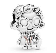 Genuine 925 Sterling Silver Bead Charm Cute Glasses & Handbag Grandma Beads Fit Pandora Women Bracelet & Necklace Diy Jewelry(China)