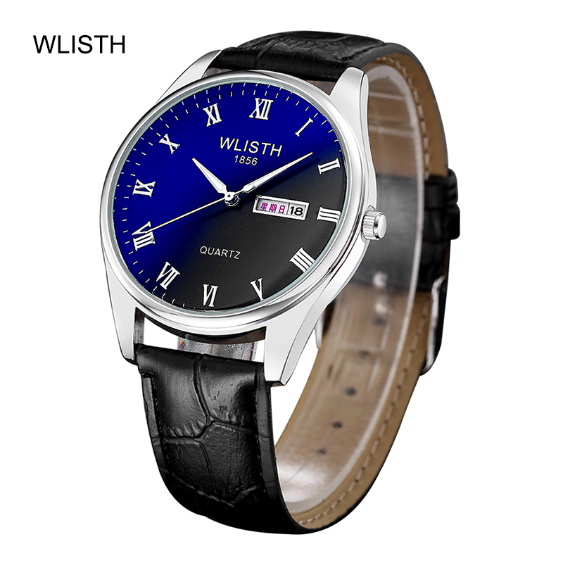WLISTH Couple Quartz Male Watches Fashion Blu-Ray Watch Waterproof Date Clock Male Sports Watches Men Quartz Casual Wrist Watch