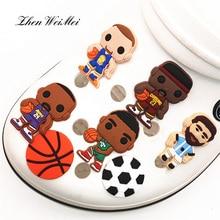 Обувь аксессуары одежда сумка игрок стиль обувь подвески украшения баскетбол футбол обувь аксессуары Fit Jibz Kid% 27 вечеринка рождество
