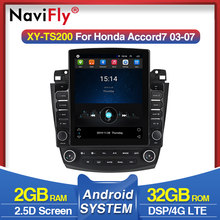 Navifly Tesla style per Honda Accord 7 CM UC CL2005 2008 Android video autoradio lettore multimediale navigazione gps No 2 din DVD