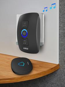 KERUI Wireless Doorbell Chimes Led-Light Welcome Waterproof M525 Smart Home-Security