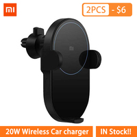 Original Xiaomi Wireless Car Charger 20W Max Qi Quick Charging Mi Wireless Car Charger for Mi 9 iphone X XS Sumsang in stock