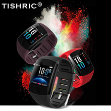 TISHRIC reloj inteligente Q11 deportivo, resistente al agua, con monitor de ritmo cardíaco, pantalla grande, bluetooth, ios, android, para hombre y mujer