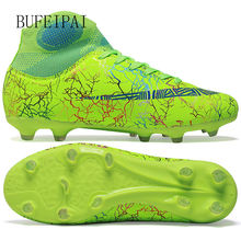 Bufeipai men's soccer shoes non slip long spikes tf ankle