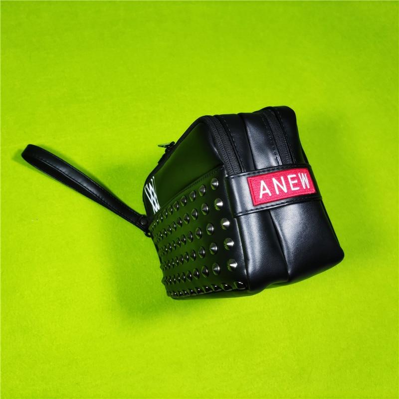 Golf Handbag  Mass Rivets Cool Fashion Design Portable Accessory Storage-Bag for Keys Cellphone Pouch 5