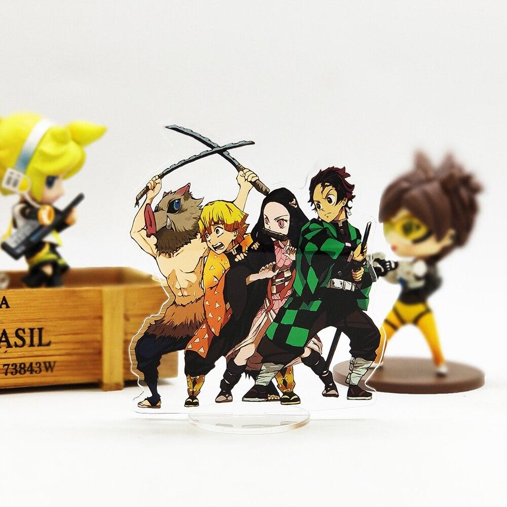 Demon Slayer Kimetsu No Yaiba Tanjirou Nezuko Zenitsu Inosuke Acrylic Stand Figure Model Plate Holder Cake Topper Anime Japanese