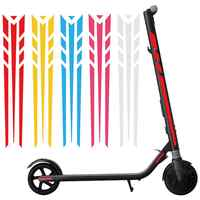 Electric Scooter Skateboard Reflective Stickers Safety Warning Decals Decoration New Chic
