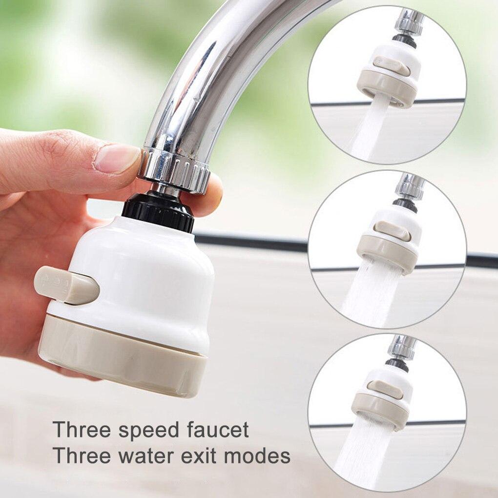 ก๊อกน้ำห้องครัวก๊อกน้ำหัวฉีดก๊อกน้ำอะแดปเตอร์ปรับ 360 หมุนน้ำ Movable TAP หัวห้องครัวก๊อกน้ำ