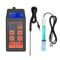 Monitor portátil profissional da qualidade da água do lcd de digitas do multi parâmetro do detector de água do medidor do ph/orp/temp|Medidores de PH| |  -
