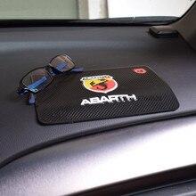 Car-styling Accessories Non-slip Mat Fixed Cell Phone Glasses for Abarth Logo Fiat 500 124 131 abarth 595 cabrio italia